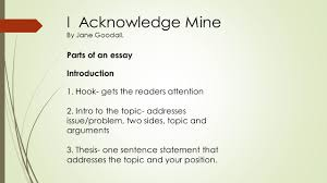 essay in english communication introductions