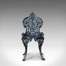 vintage cast iron garden chair for