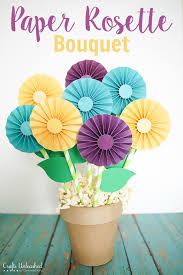Paper Rosette Flower Paper Bouquet Diy Rosette Gift Crafts Unleashed