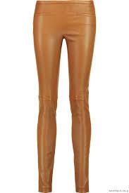 ideal brown emilio pucci women s leather pants pants skinny leg skinny