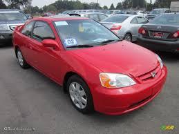 2002 Rally Red Honda Civic EX Coupe #52679291 | GTCarLot.com - Car ...