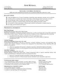 Automotive Technician Resume Skills Http Www Resumecareer Info