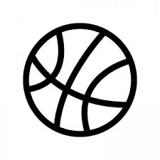 バスケットボールのシルエット 無料のaipng白黒シルエットイラスト