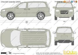 The-Blueprints.com - Vector Drawing - Chevrolet Uplander