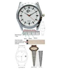 Watch Band Size Chart Kolet 18mm Padded Leather Watch Strap Watch Band Grey 18mm Size Chart Provided In 3rd Image Pack Of 1pc