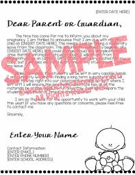 Editable Maternity Leave Letter To Parents Wife Teacher Mommy