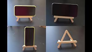diy popsicle stick mobile holder popsicle stick crafts phone stand