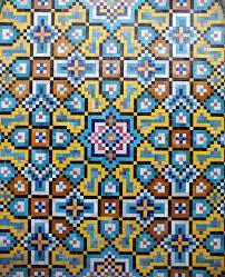 multicolored floral art, kashi, iran ...