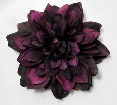 Large Eggplant Purple Dahlia Flower Hair Clip