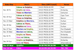 Big T20 Match 2016 Schedule Time Table Ram Slam T20 2016
