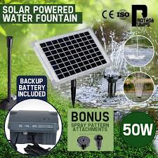 50w solar powered water fountain pump with battery by protege