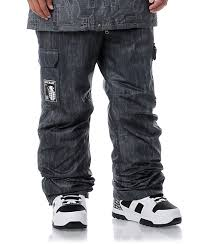 Grenade Snowboard Pants Size Chart Grenade Army Corps Black Denim 8k Snowboard Pants