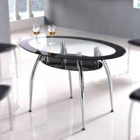 dining table with shelf underneath. finest dining room furniture idea using oval clean glass table with stainless steel legs adding shelf underneath
