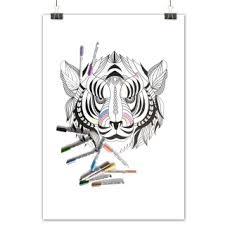 Kleurplaat Posters Acaza Shop