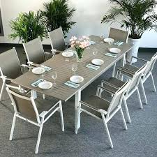 garden furniture table and chairs modern large 8 metal weatherproof white champagne glass top extending garden