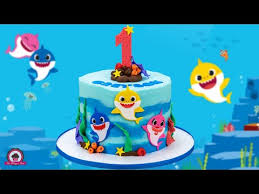 cake baby shark decoration