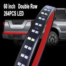 Van Light Bars Autuneer Led Tailgate Light Bar 2 Row 60inch 264leds Truck Led Light Strip Red White Waterproof Running Reverse Braking Turn Signal For Pickup Suv Rv