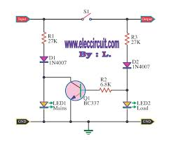 mains voltage indicator a led electronic projects circuits led