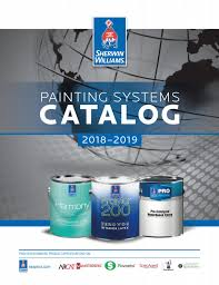 Sherwin Williams Paint Quality Chart Sherwin Williams Painting Systems Catalog 2018 By Sherwin