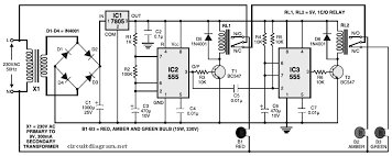 simple traffic light controller schematic design