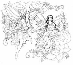 Fallen Angel Fairy Coloring Pages For Adults