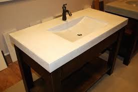 sinks concrete trough basin uk bathroom rectangular sink wall mirror floating storage design ideas copper