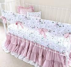 dusty pink crib bedding set for girls