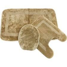 mohawk facet almond beige bath rug