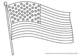 Simply trim away the white space, fold each flag in half (so they are double sided). The 4th American Flag Coloring Page Flag Coloring Pages Flag Printable