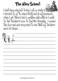 esl creative writing worksheets the alien school