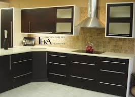 Kitchen Interior Decorating Elegant Kitchen Interior Decoration With L Shaped Black Kitchen