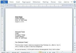 Resign Letter Format In Word Resignation Letter Word Format For Resignation Letter Resignation