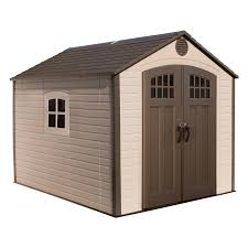 lifetime s gable storage shed common 8 ft x 10 ft