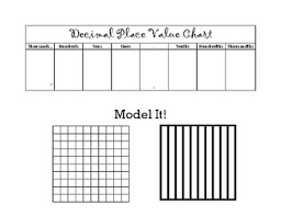 Decimal Places Chart Diagram Decimal Place Value Chart By Emily Ray Teachers Pay Teachers