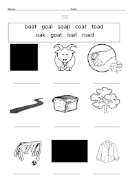 Sounds and phonics worksheets for preschool and kindergarten, including beginning sounds, consonants, vowels and rhyming. Oa And Ow Oa Digraph Worksheets Teaching Resources