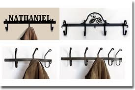 Wrought Iron Wall Coat Rack