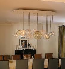 amusing mid century light fixtures ideas above modern dining table sets