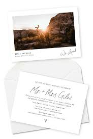 Announcement Cards Wedding Elopement Announcements