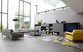 Ideas On Pinterest Living Room Enchanting Picture Of Modern Yellow And Grey  Living