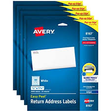 Avery Address Lables Amazon Com Avery Address Labels With Sure Feed For Inkjet Printers
