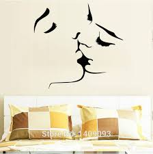 Small Picture Diy Kiss Love Romantic Wall Decals Sofa Backdrop Bedroom
