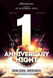 Anniversary Night Flyer Template Elegant Psd Flyer Ffflyer