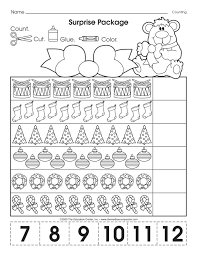 This Christmas-themed math worksheet makes counting to twelve ...