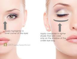 how to conceal under eye bags lily leading instant eye lift