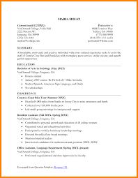 College Student Resume Sample 60 resume summary examples for college students activo holidays 42