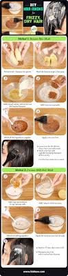 homemade hair masks for dry dull and frizzy hair summary this infographic