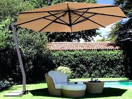 offset patio umbrella with lights a lovely umbrellas garden 11 ft solar in cafe