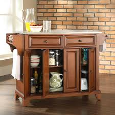 Crosley Furniture Kitchen Cart Portable Kitchen Island With Granite Top Drop Leaf Table And