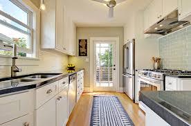 kitchen subway blue white runner rug for hardwood floors