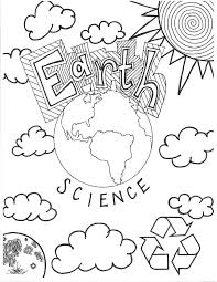 Earth Coloring Page Pdf Science Coloring Pages Science Coloring